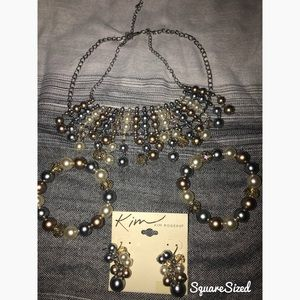 Kim Rogers Set- 2 bracelets, Necklace, & Earrings